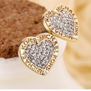 Valentine's Day ❤️ MK diamond heart earrings
